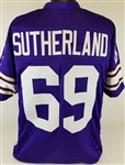 Doug Sutherland Minnesota Vikings Custom Home Jersey Mens 3XL