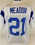Eddie Meador Los Angeles Rams Custom White Away Jersey Mens 2XL