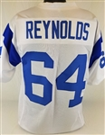 Jack Reynolds Los Angeles Rams Custom White Away Jersey Mens 3XL