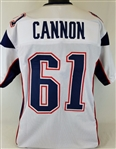 Marcus Cannon New England Patriots Custom Away Jersey Mens Large