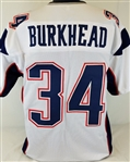 Rex Burkhead New England Patriots Custom Away Jersey Mens Large