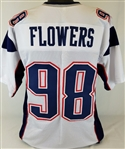 Trey Flowers New England Patriots Custom Away Jersey Mens Large