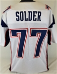 Nate Solder New England Patriots Custom Away Jersey Mens Large