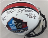 Joe Namath, Franco Harris, Terry Bradshaw, Lynn Swann and 16 others Signed HOF Full Size Helmet JSA LOA #z23641