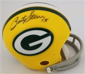 Bart Starr Signed Green Bay Packers Mini Helmet Auto Autograph Tristar #0102251