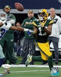 Davante Adams Signed Packers 8x10 Photo vs Cowboys JSA Witness Autograph COA