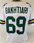 David Bakhtiari Green Bay Packers Custom Away Jersey Mens Large