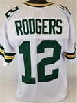 Aaron Rodgers Green Bay Packers Custom Away Jersey Mens Large