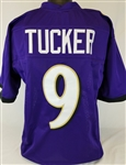 Justin Tucker Baltimore Ravens Custom Home Jersey Mens XL
