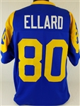 Henry Ellard Los Angeles Rams Custom Blue/Yellow Home Jersey Mens 2XL
