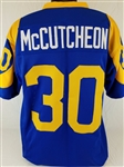 Lawrence McCutcheon Los Angeles Rams Custom Blue/Yellow Home Jersey Mens XL