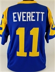 Jim Everett Los Angeles Rams Custom Blue/Yellow Home Jersey Mens 2XL