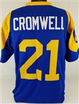 Nolan Cromwell Los Angeles Rams Custom Blue/Yellow Home Jersey Mens XL