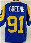 Kevin Greene Los Angeles Rams Custom Blue/Yellow Home Jersey Mens XL