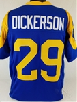 Eric Dickerson Los Angeles Rams Custom Blue/Yellow Home Jersey Mens 2XL