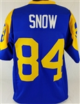 Jack Snow Los Angeles Rams Custom Blue/Yellow Home Jersey Mens 2XL