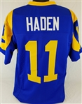 Pat Haden Los Angeles Rams Custom Blue/Yellow Home Jersey Mens 2XL