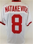 Tyler Matakevich Temple Owls Custom White Jersey Mens XL