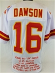 Len Dawson Kansas City Chiefs Custom Away Jersey with Stats Mens XL