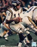 "Joe Kapp ""40 for 60"" Signed Vikings 8x10 Photo Autograph PSA COA #AC91618"