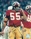Chris Hanburger Signed Washington Redskins 8x10 Photo Autograph PSA COA #AC91643