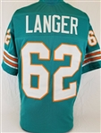 Jim Langer Miami Dolphins Custom Home Jersey Mens 3XL