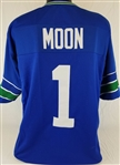 Warren Moon Seattle Seahawks Custom Home Jersey Mens Large