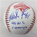 "Wade Boggs New York Yankees Signed ""96 Ws Champs"" 1996 World Series Baseball JSA COA"