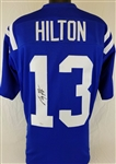 T.Y. Hilton Colts Signed Blue Jersey JSA Witness Autograph #W648875 (No COA)
