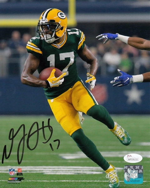 Davante Adams Signed Packers 8x10 Photo vs Dallas JSA Witness Auto Autograph