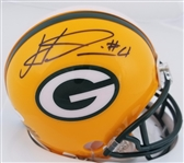 Haha Clinton-Dix Signed Packers Mini Helmet JSA Witness Auto Autograph