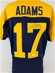 Davante Adams Packers Signed Throwback Blue Jersey JSA Witness Auto Autograph