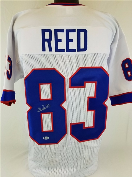 Andre Reed Buffalo Bills Signed Jersey Beckett BAS Witness Autograph #I19704