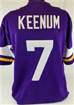 Case Keenum Minnesota Vikings Custom Home Jersey Mens 2XL
