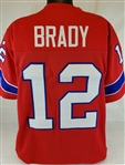 Tom Brady New England Patriots Custom Alternate Jersey Mens Large