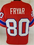 Irving Fryar New England Patriots Custom Alternate Jersey Mens Large