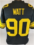 T.J. Watt Pittsburgh Steelers Custom Color Rush Jersey Mens 2XL