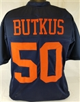 Dick Butkus Illinois Fighting Illini Custom Blue Football Jersey Mens XL