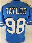 Lawrence Taylor North Carolina Tar Heels Custom Blue Football Jersey Mens XL