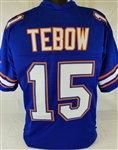 Tim Tebow Florida Gators Custom Blue Football Jersey Mens XL