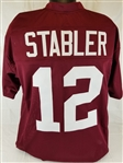 Ken Stabler Alabama Crimson Tide Custom Crimson Football Jersey Mens XL