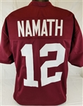 Joe Namath Alabama Crimson Tide Custom Crimson Football Jersey Mens XL
