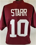 Bart Starr Alabama Crimson Tide Custom Crimson Football Jersey Mens XL