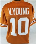 Vince Young Texas Longhorns Custom Orange Football Jersey Mens Large