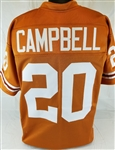 Earl Campbell Texas Longhorns Custom Orange Football Jersey Mens XL