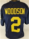 Charles Woodson Michigan Wolverines Custom Blue Football Jersey Mens XL