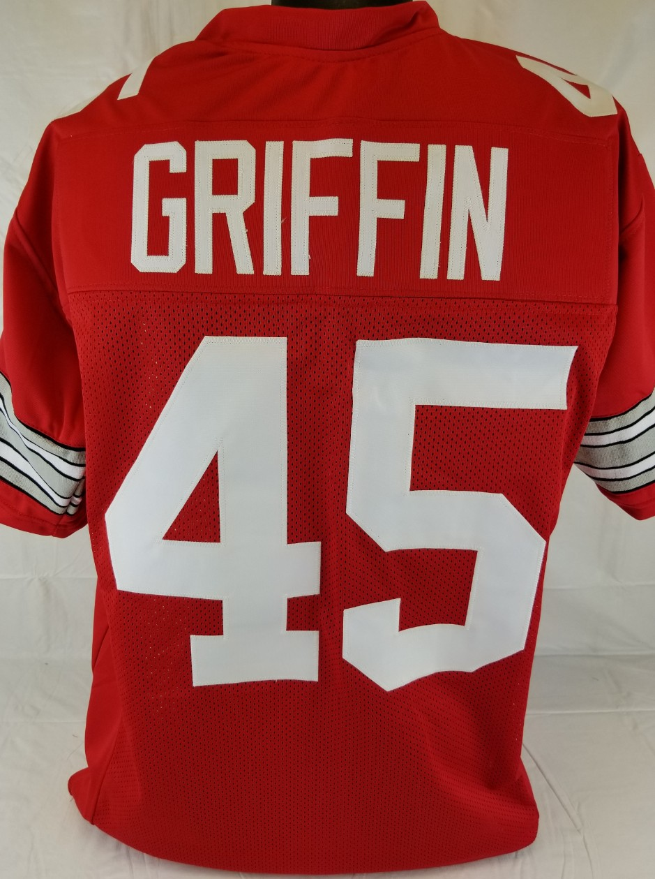 big sale ecf27 67bc9 Item Detail - Archie Griffin Ohio State Buckeyes Custom Red ...