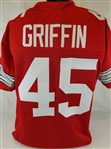 Archie Griffin Ohio State Buckeyes Custom Red Football Jersey Mens XL