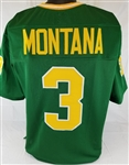 Joe Montana Notre Dame Fighting Irish Custom Green Football Jersey Mens XL