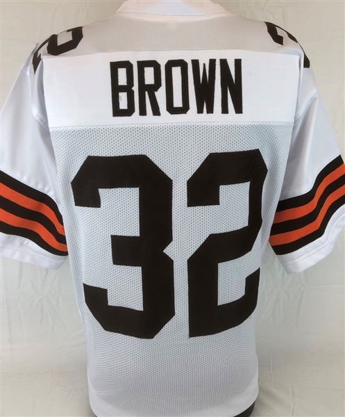 brand new 63df3 b9e44 Item Detail - Jim Brown Cleveland Browns Custom Away Jersey ...